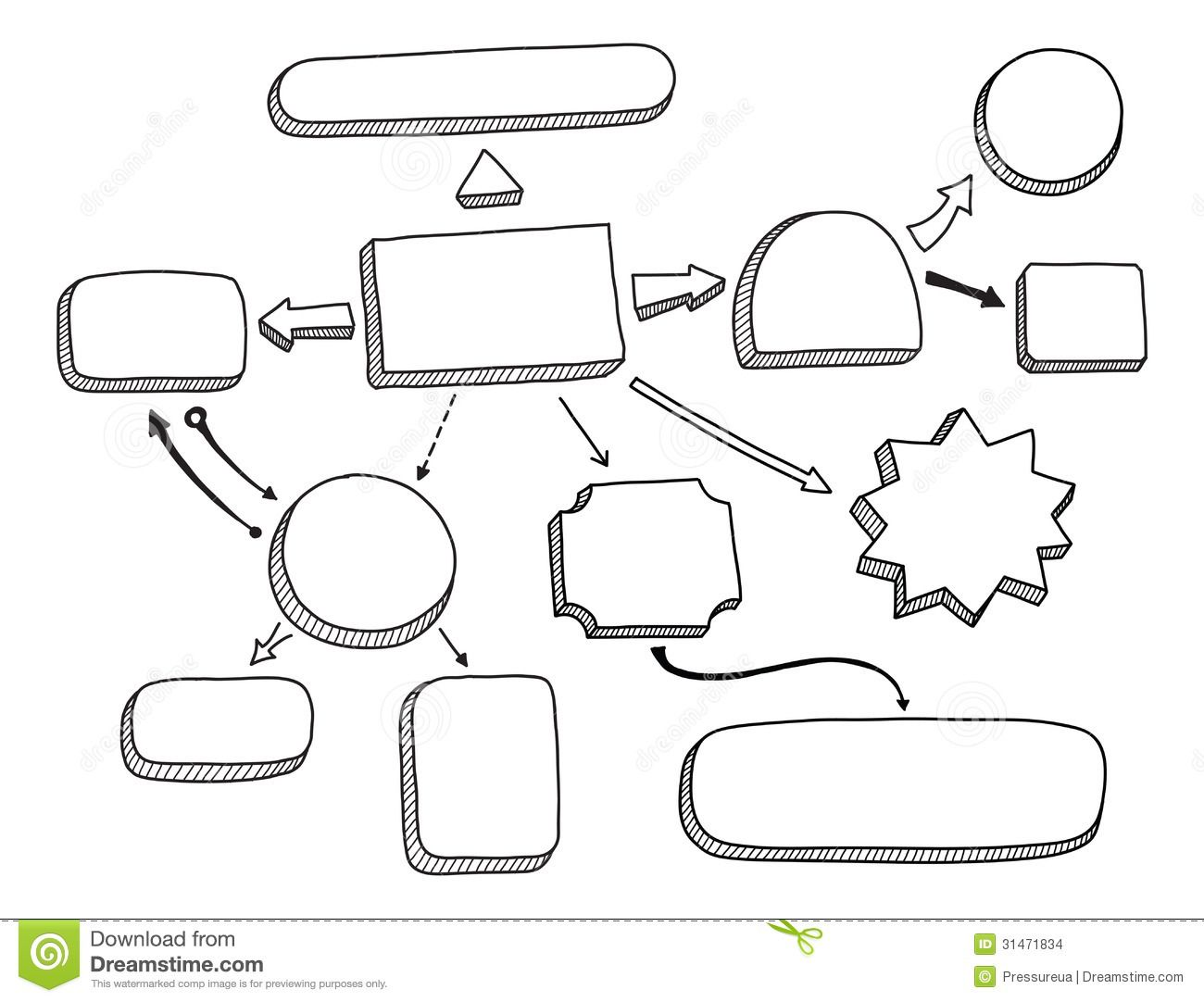 flowchart-vector-illustration-hand-drawn-mind-map-space