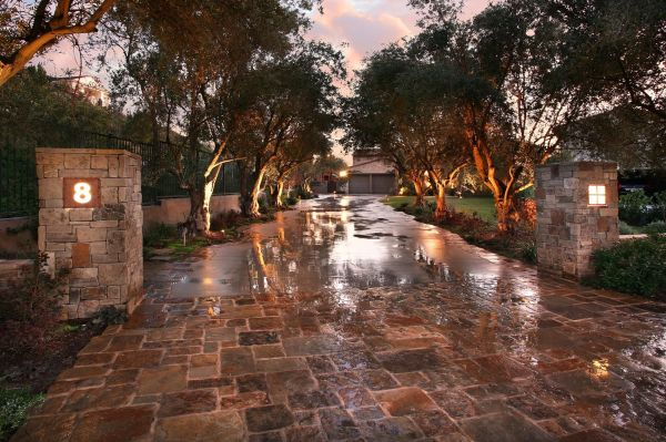 long driveway landscaping ideas