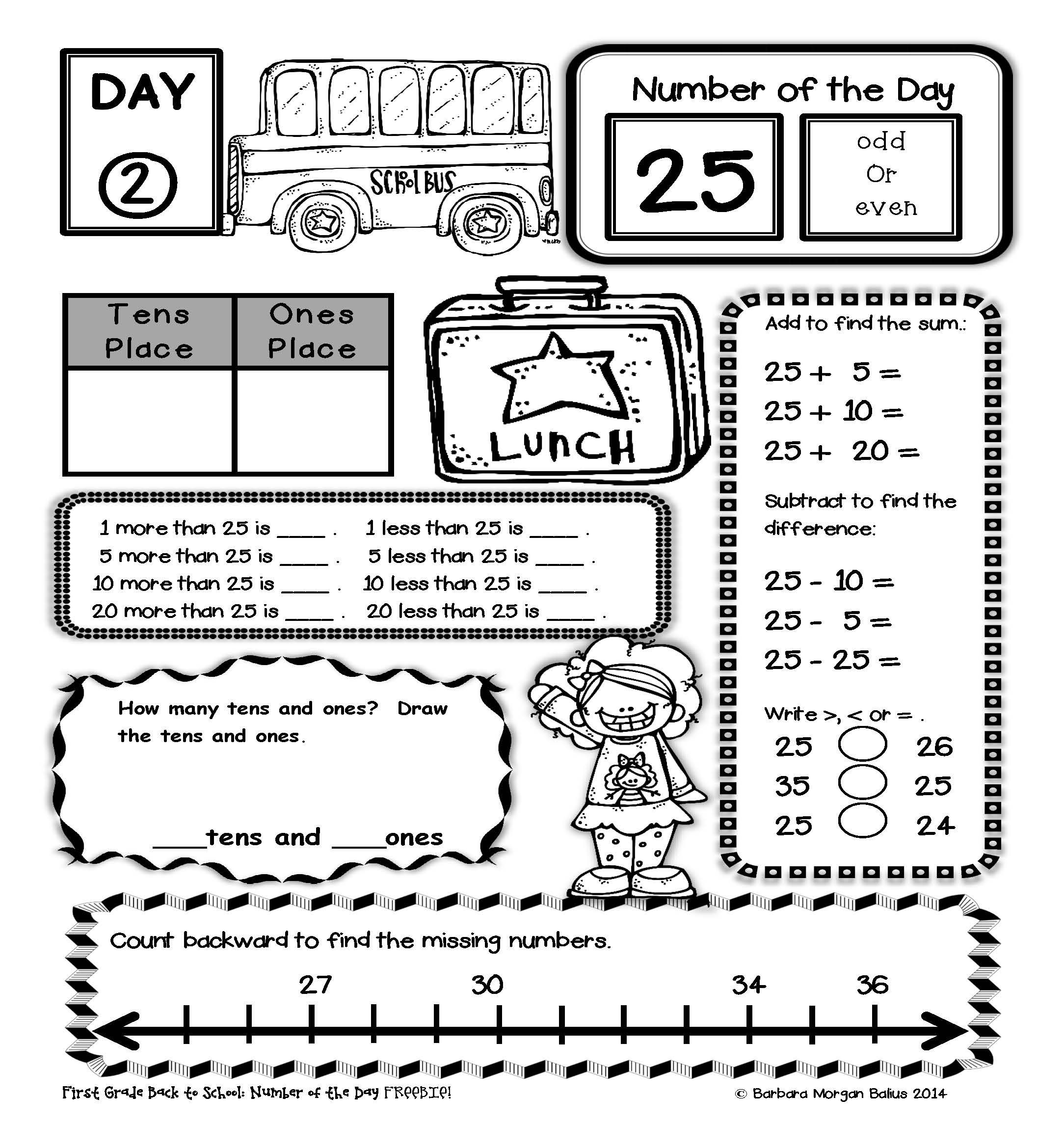 Try This Free Resource From Mrs Balius Second Grade Math Great For Daily Number Sense Practice
