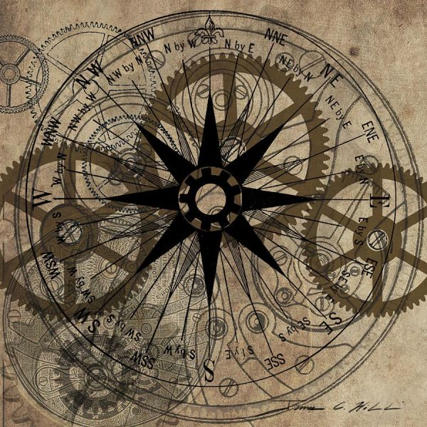 Multiple Finishes Steam Punk Wall Art With Clock