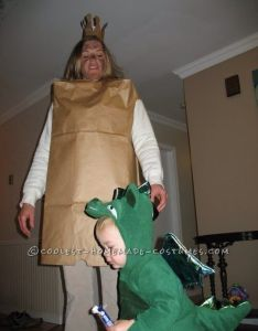 Cheap quick and easy paper bag princess costume for an adult woman also rh pinterest