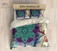 Twin / Twin XL Bohemian bedding, Mandala duvet cover set