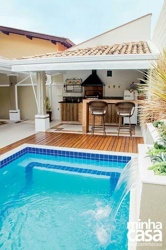 Resultado de imagen para piscinas con quincho  Piscinas  Pinterest  Piscinas Albercas y Casas
