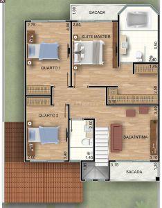 Sobrado quartos  house plansideas also casa  seus detalhes pinterest rh