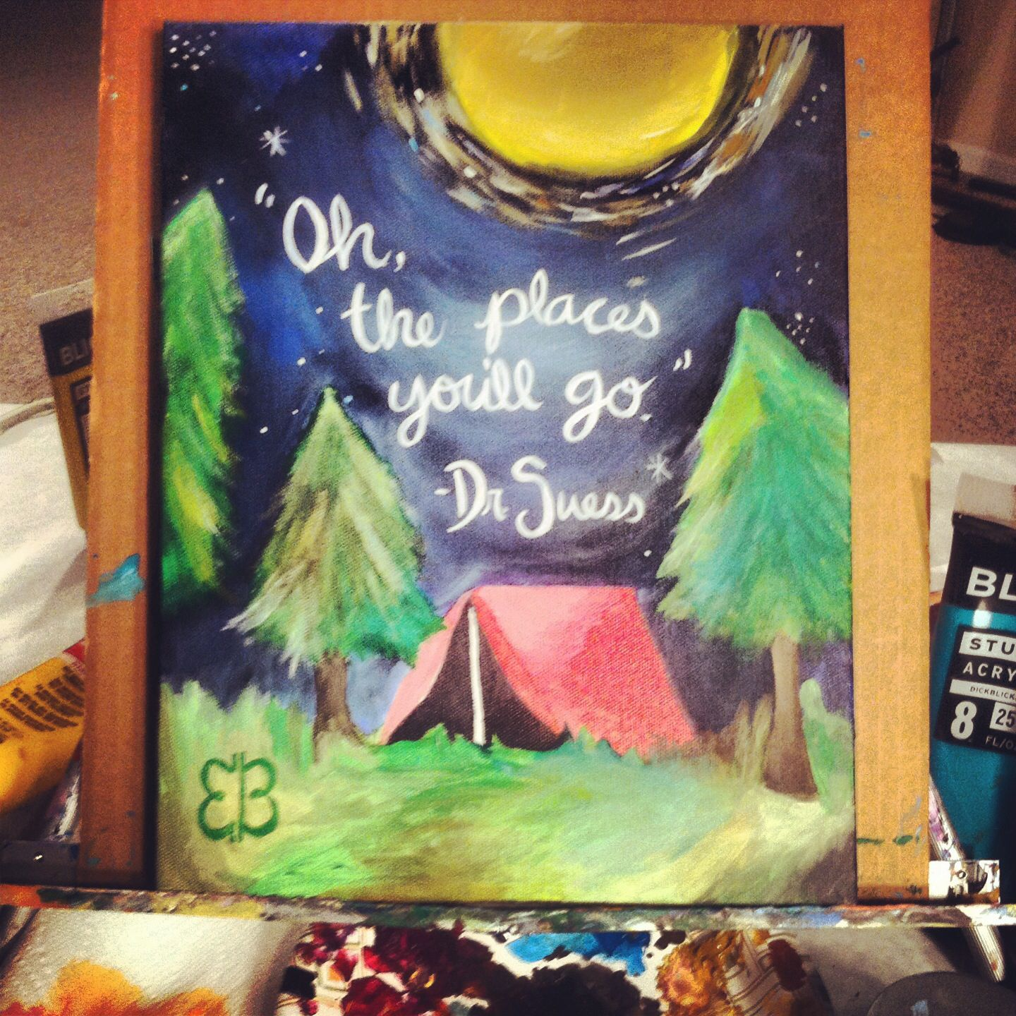Painted This For A Camping Themed Classroom