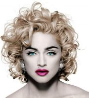 madonna messy medium curly hair