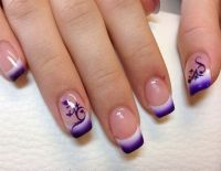 nice airbrush nail art fade out design - Nail Designs ...