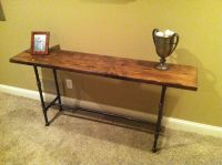 Reclaimed/Distressed wood black iron pipe table | For my ...