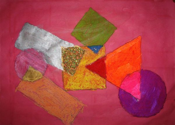 Great Abstract Art Lesson Shape Color Overlapping