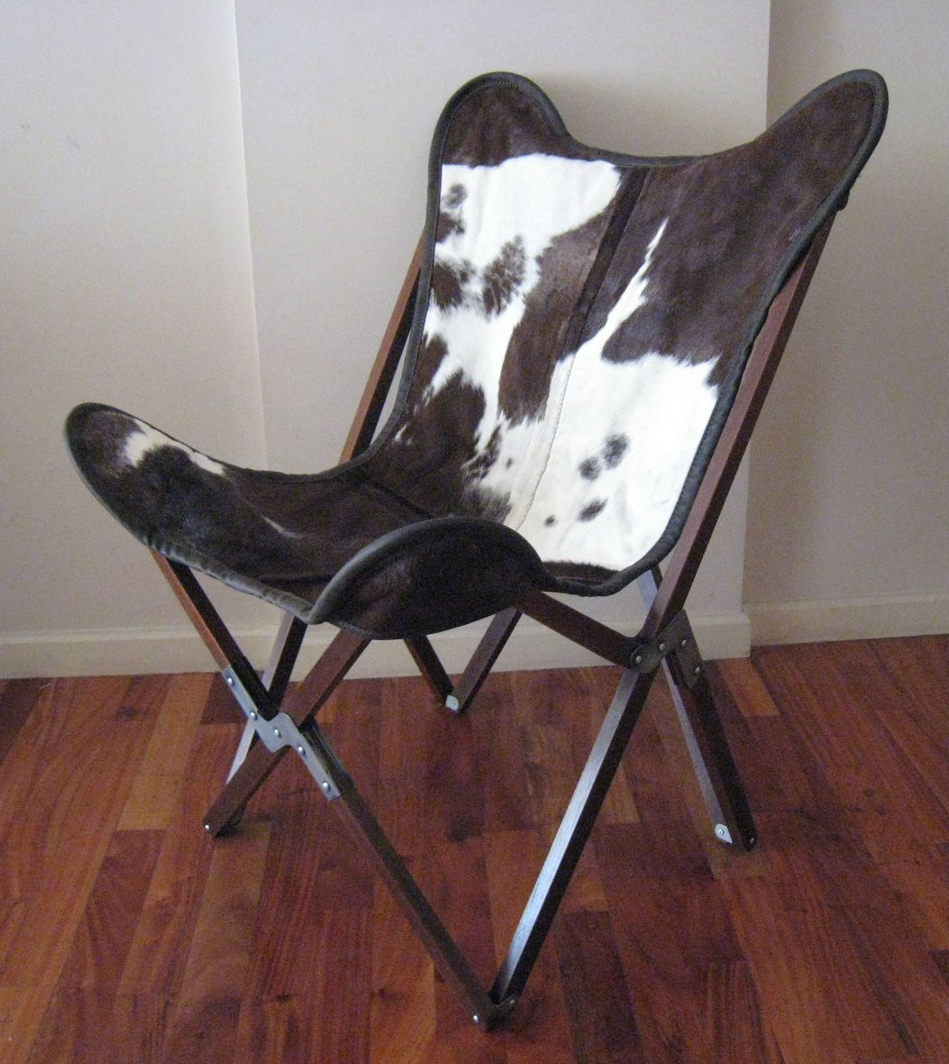 butterfly chair replacement covers baxton studio modern leather accent original quottripo quot hand made wooden frame