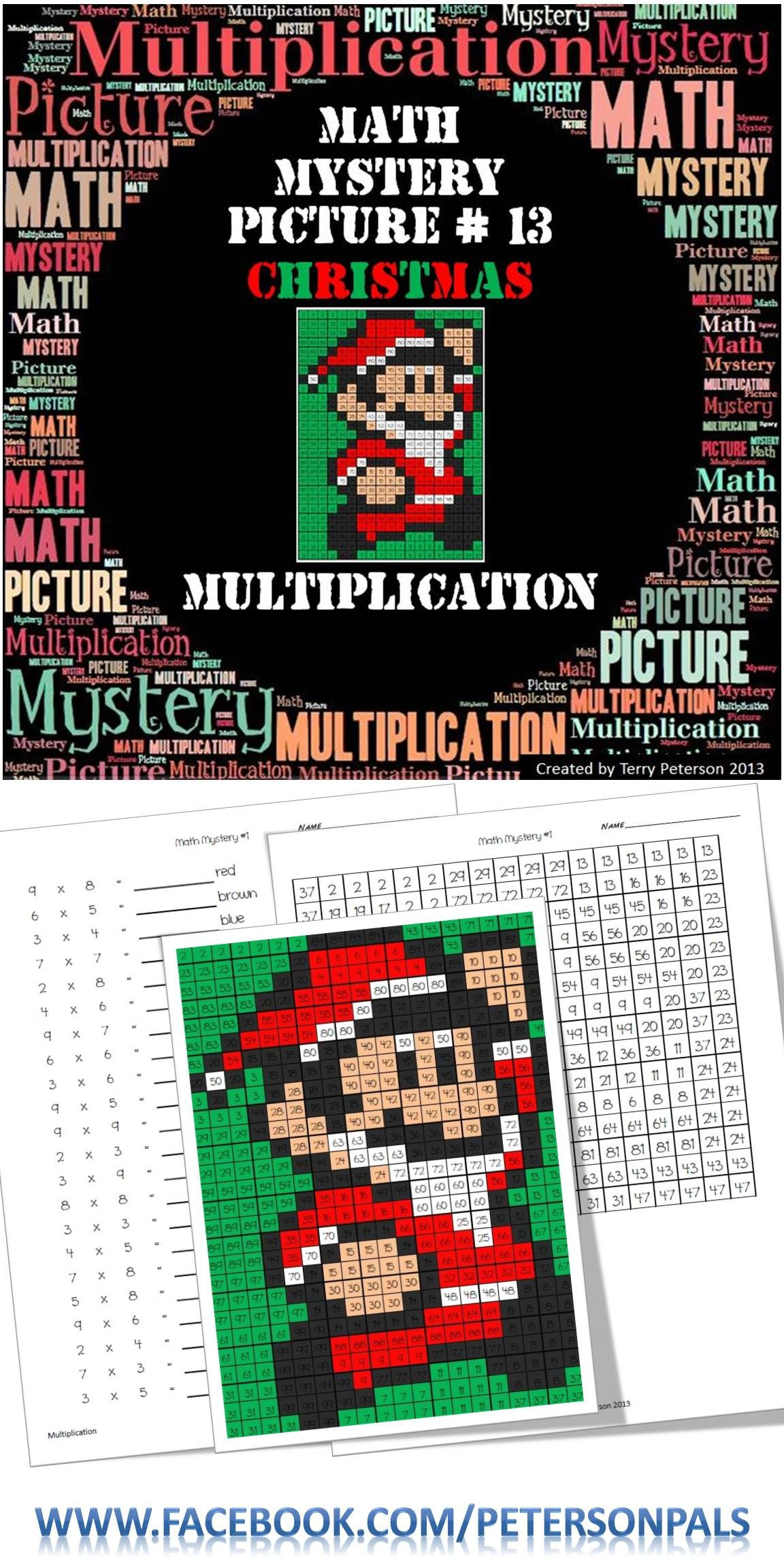 Free Multiplication Hidden Picture Difficult