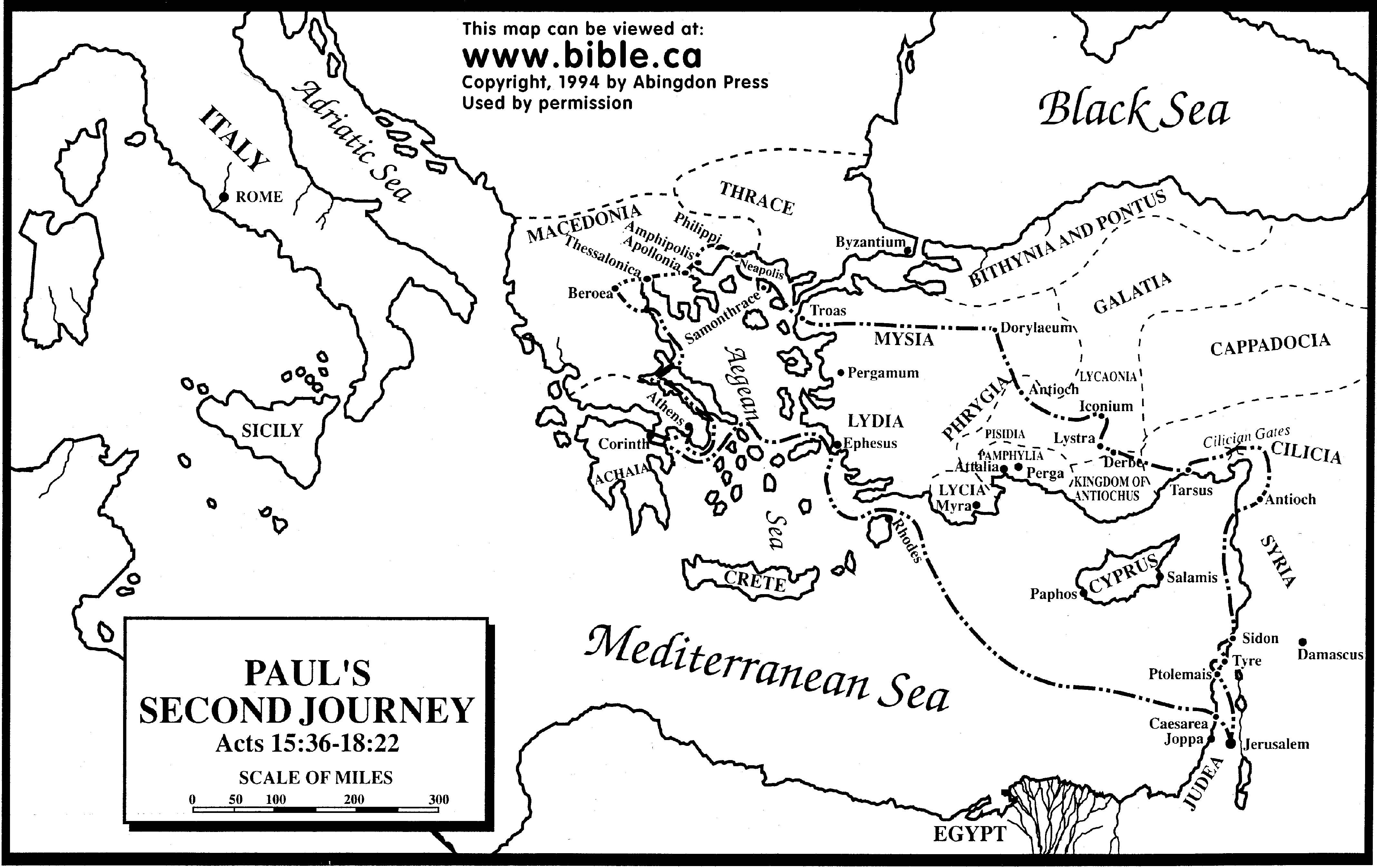 Paul S Second Missionary Journey Fee Map