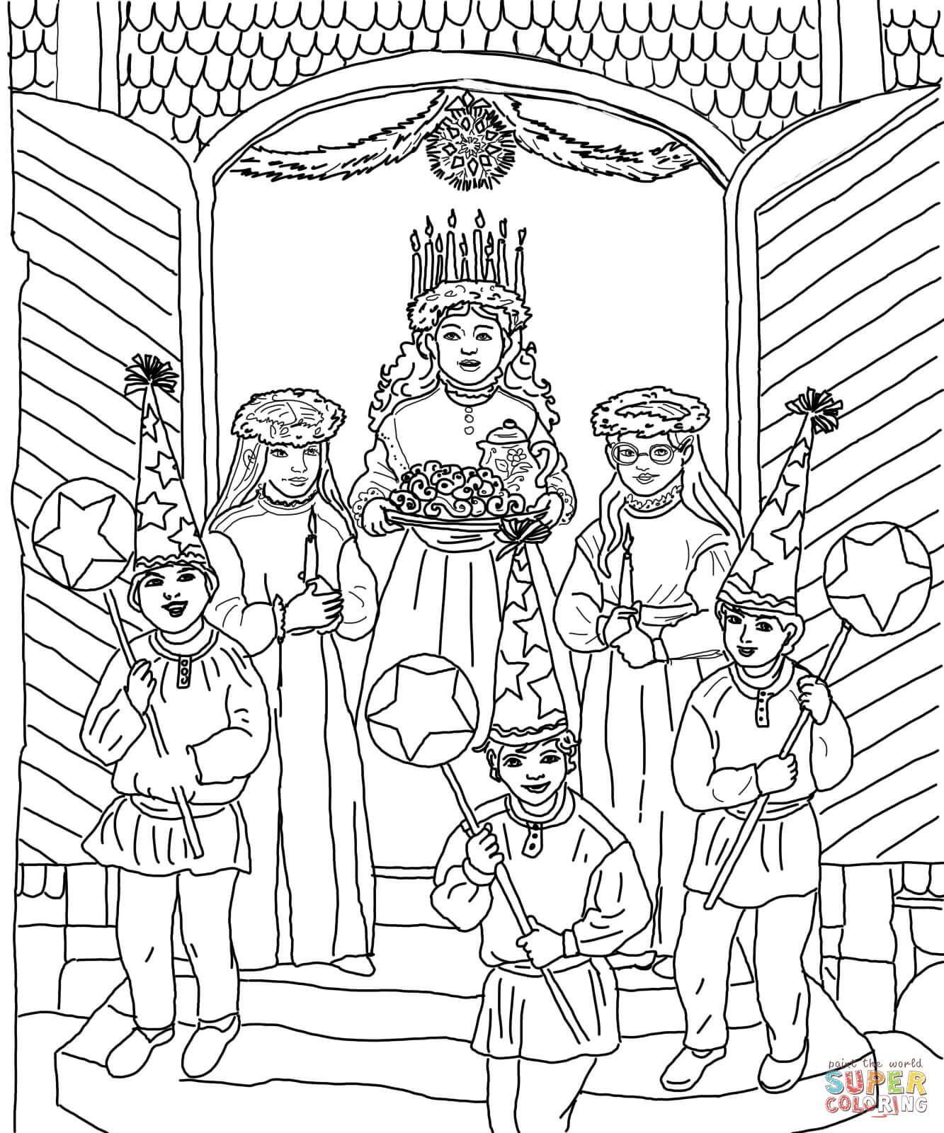 Santa Lucia Fargelegging