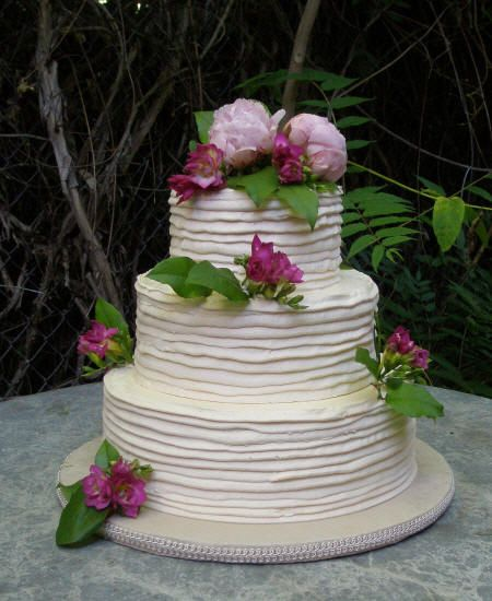simple buttercream wedding cake  Google Search  Wedding ideas  Pinterest  Buttercream