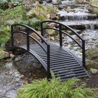 Outdoor Garden Bridge Metal 8ft Backyard Decor Walkway ...
