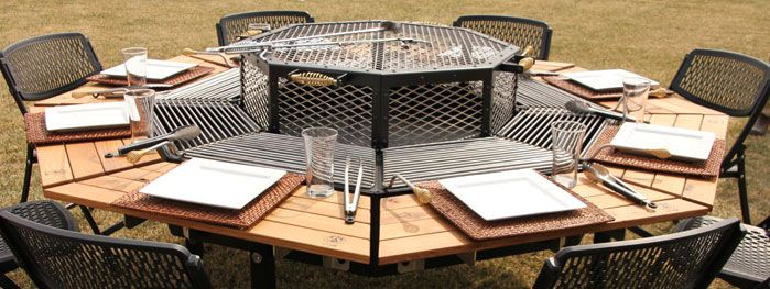JAG Grill  grill firepit and table allinonehow