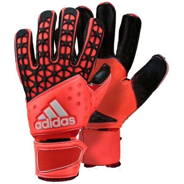 adidas ace zones pro solar red black goalkeeper gloves model s