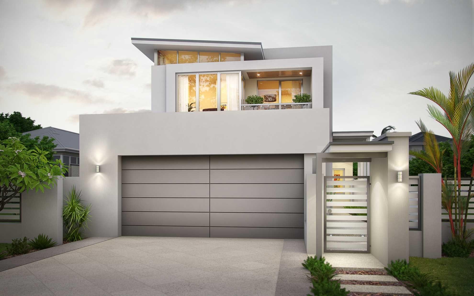 Narrow Block House Plans Wa Arts Small 2 Story Lot Home Designs