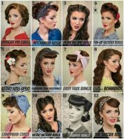 vintage pin hairstyle rockabilly