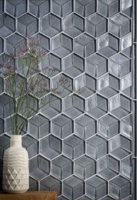 glass tile, tile, interior design, tozen tile,, feature ...