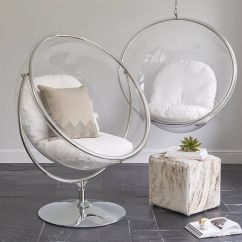 Hanging Chair Clear Baby High Chairs Wallace Sacks Ivory Bubble Inspired On Floor