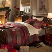 Dorma Red Balmoral Check Duvet Cover Set