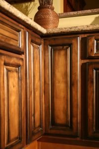Pecan Maple Glaze Kitchen Cabinets, Rustic Finish- Sample ...