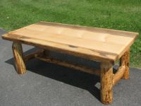 knotty pine log coffee table | Log Furniture | Pinterest ...