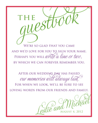 saying for guest. book for baby shower