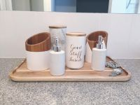 A clever use of kitchen pieces in the bathroom. Kmart ...