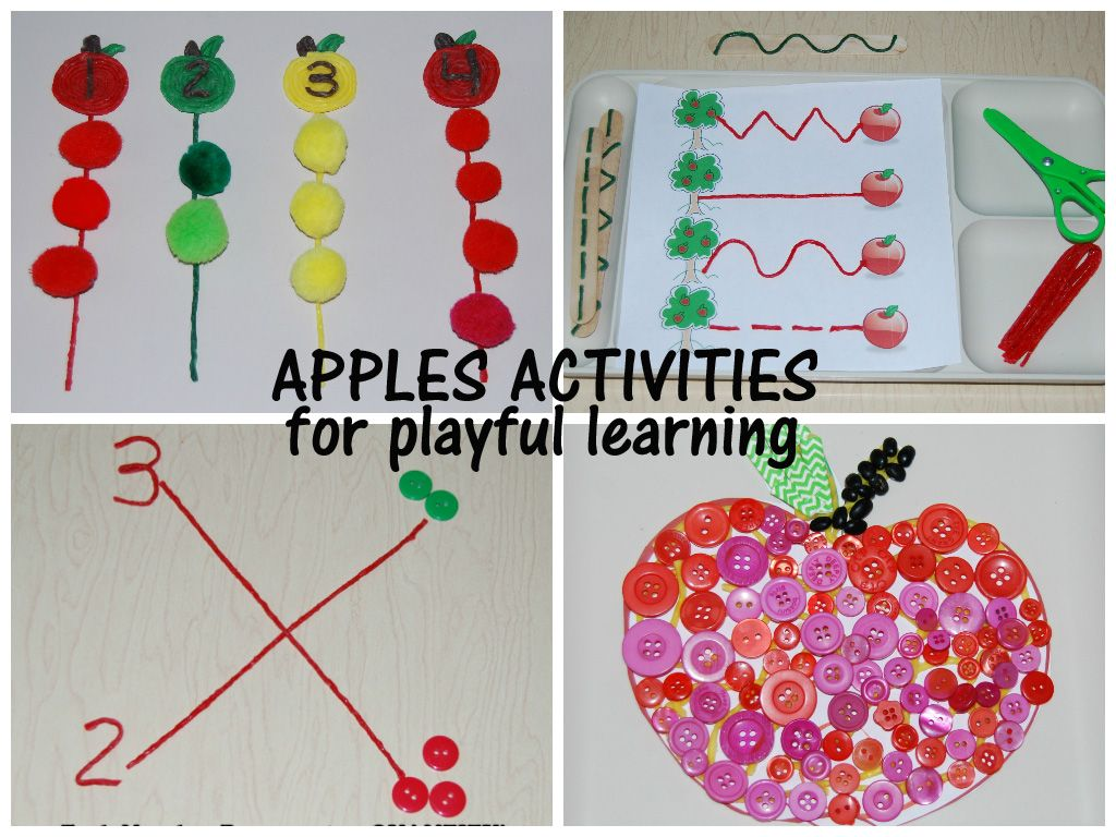 Apples Activities For Preschool Math Prewriting Grouping And Sensory Apples Craft