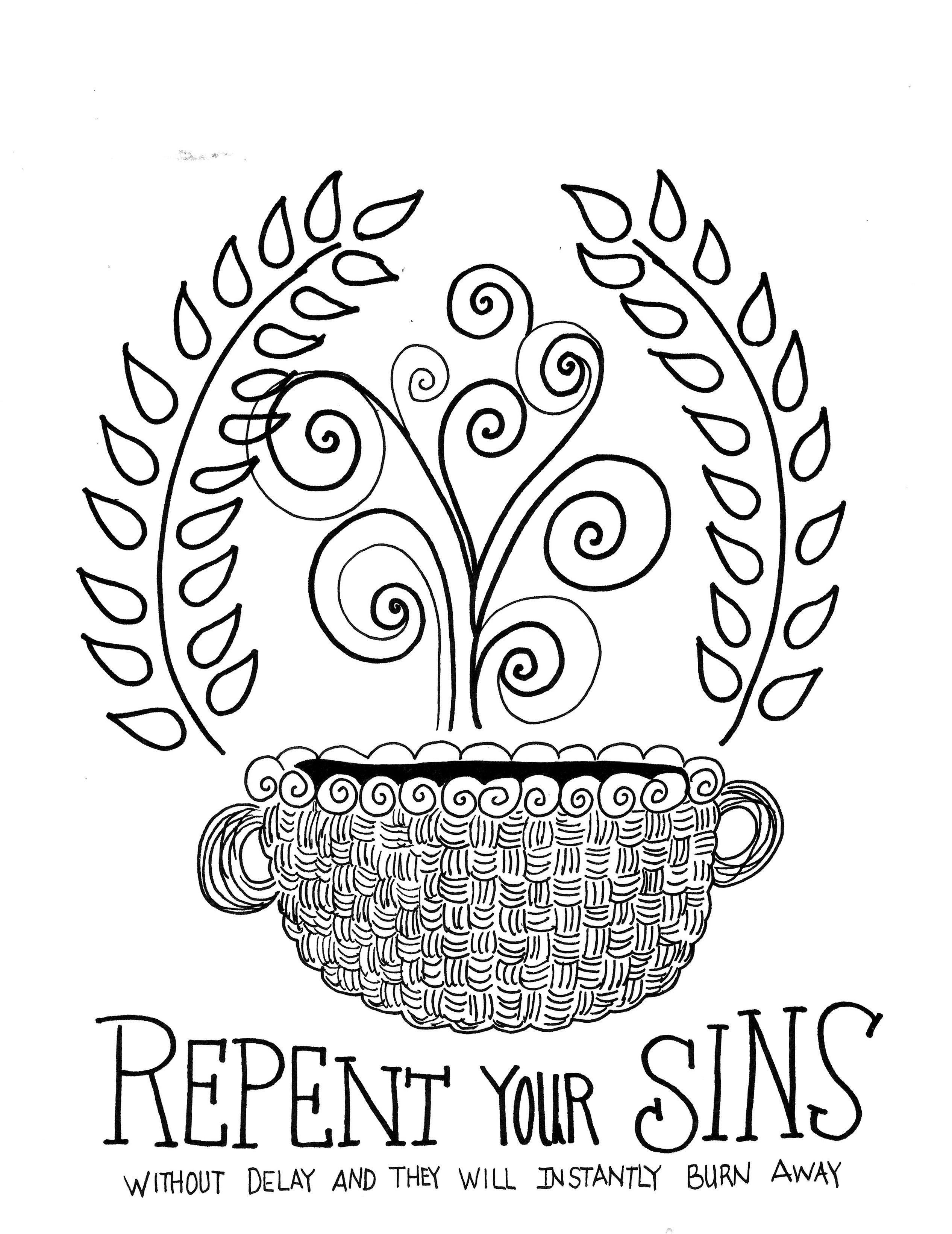 Repentance is first...FREE Scripture Coloring pages