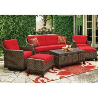 Loveseat Two 360 swivel glider chairs w/ ottomans 4 ...