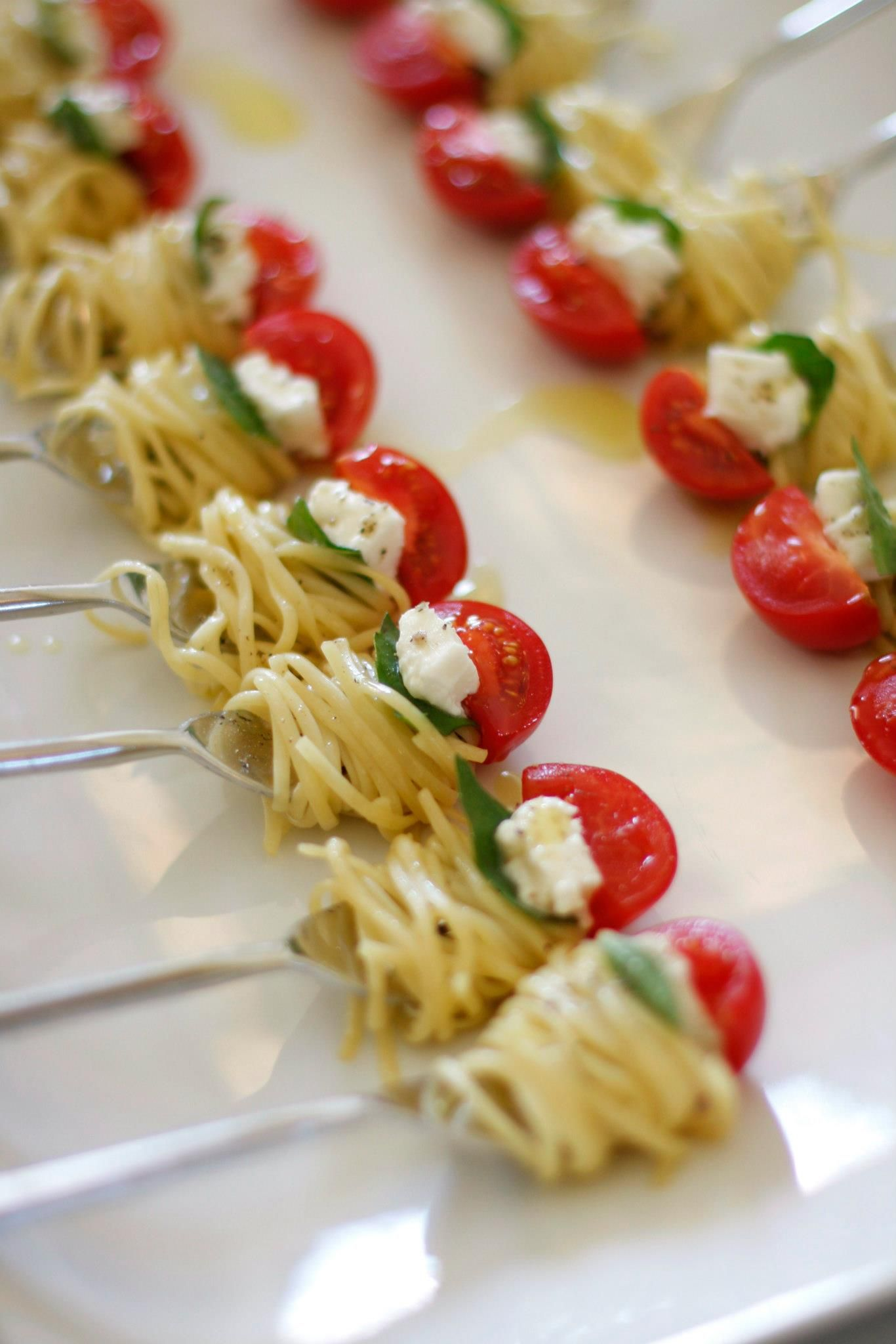 Fingerfood Kind Appetizer Fun One Bite Of Pasta The Perfect Bite