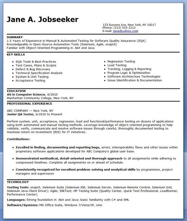 resume sle qa tester resume ixiplay free resume sles