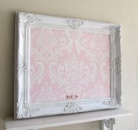 Shabby Chic Framed Bulletin Board | My bedroom | Pinterest ...