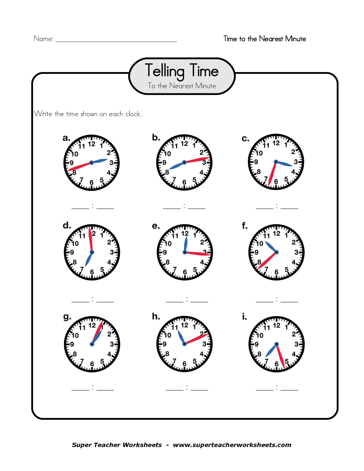What Time Is It Worksheet Free Esl Printable Worksheets