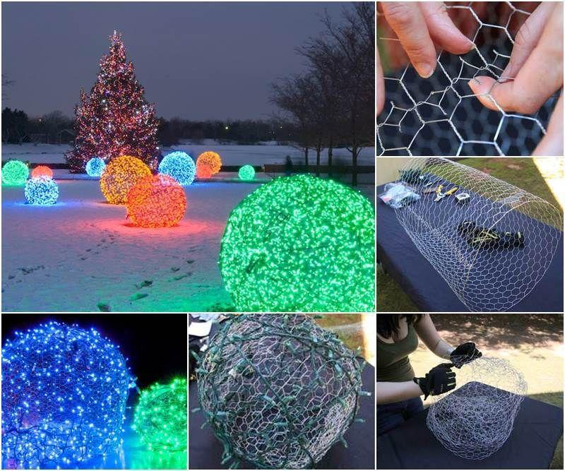Creative Ideas DIY Outdoor Christmas Light Balls Christmas