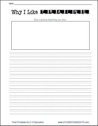 Why I Like Trains Writing Prompt Worksheet Free to Print