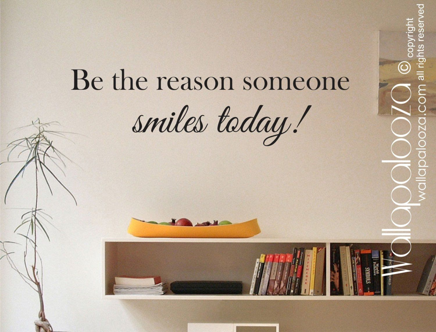 Inspirational wall decal be the reason someone smiles today decor also rh pinterest