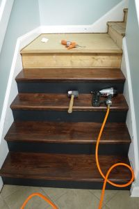 DIY Staircase Makeover | Staircases, Woods and Basements