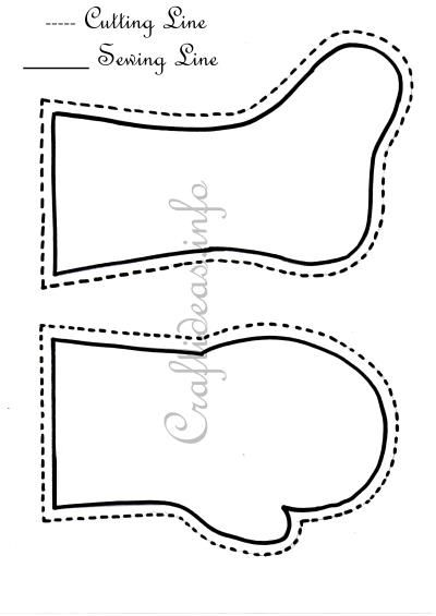 Stocking and Mitten Templates 400 http://www.craftideas