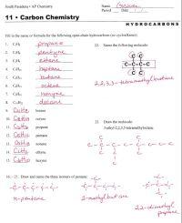 hydrocarbon nomenclature