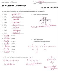 hydrocarbon nomenclature | Naming Hydrocarbons Practice ...