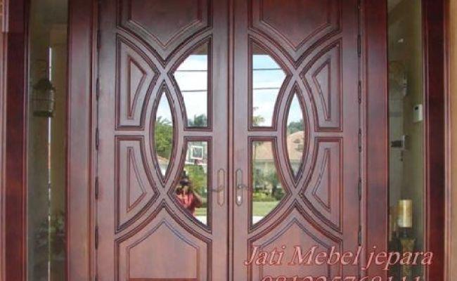 Pintu Double Swing Minimalis Terbaru 2016 Kayu Jati Harga