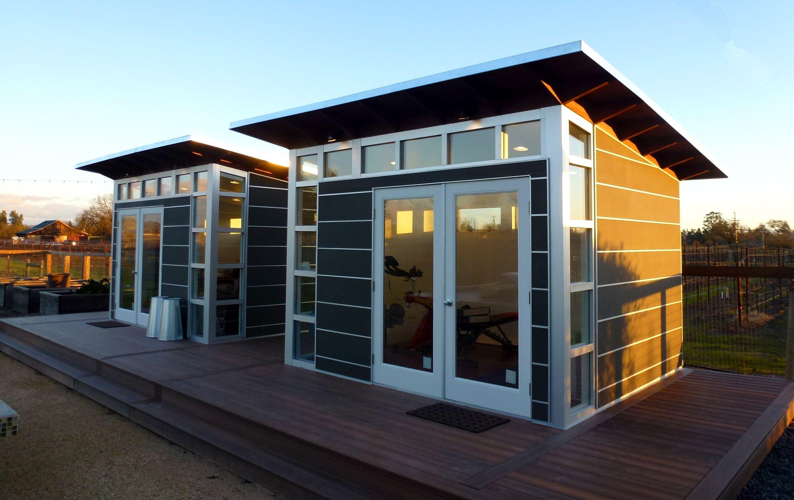 Potential guest cabin design./ Studio Shed