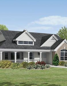 This lovely ranch style home with country influences house plan has square feet of living space the story floor includes bedrooms also houseplans new pinterest farmhouse design rh