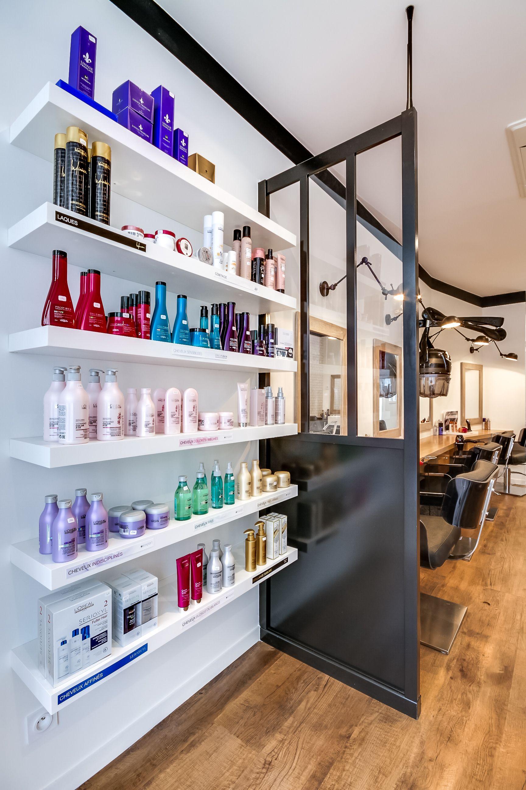 Rnovation totale dun Salon de coiffure Paris Espace retail revente Agence Dco At Ome Dco