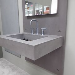 Concrete Kitchen Sink White Painted Cabinets Wall Mount Ada Bathroom By Trueform