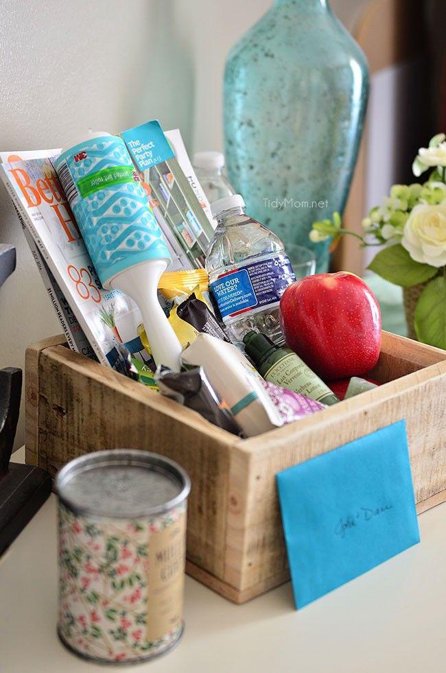 Houseguest Welcome Basket For Visitors Guest Basket Hospitality